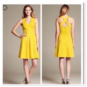 Banana Republic fit and flare criss cross dress